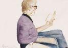 Hans Platschek, 2 Bll.: Selbstbildnis mit Buch. Weiblicher Akt