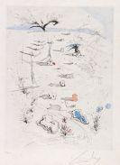 Salvador Dalí - Tetes d'épines (Les Tranchée)