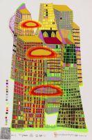 Hundertwasser, Friedensreich - Farbserigrafie