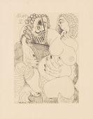 Pablo Picasso - Grosse prostituées sur les genoux d' un barbu