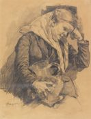 Gröber, Hermann - Pencil drawing