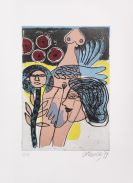 Corneille - Etching and aquatint in colors