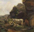 Voltz, Friedrich - Oil on fibreboard