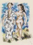 Werner Scholz - Frau mit roten Haaren. Spazierendes Paar