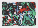 Penck (d.i. Ralf Winkler), A. R. - Etching and aquatint in colors