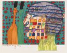 Hundertwasser, Friedensreich - Lithograph in colors