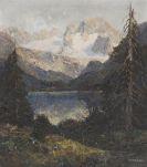 Otto Pippel - Blick auf Dachstein und Gosau See