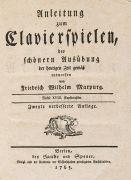 Musik - Mapurg, F. W., Anleitung zum Clavierspielen