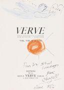 Marc Chagall - Ohne Titel (Orig.-Zeichnung m. Widmung auf Verve-Titelbl.)