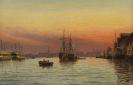 Holger Peter Svane L�bbers - Abend im Hafen von Kopenhagen