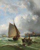 Ralph Stubbs - Boote an der K�ste vor Yarmouth Pier