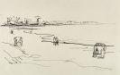 Heinrich Stegemann - Meeresstrand mit ferner Steilk�ste