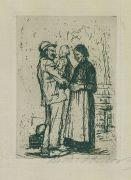 K�the Kollwitz - Begr��ung. 1892
