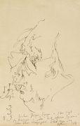 Horst Janssen - 1 Orig.-Zeichnung Selbstportrait