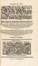 Leonhard Fronsperger - Kriegsbuch. 1596