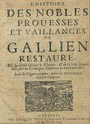 Volksb�cher - Histoire des nobles pro�esses. 1709
