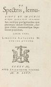 Ludwig Lavater - De spectris, lemuribus. 1575.
