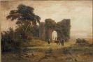 Enrico Italien - 1 Bl. Italienische Landschaft mit Ruine