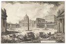 Giovanni Battista Piranesi - 1 Bl. Veduta della Gran Piazza e Basilica di S. Pietro.
