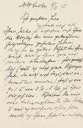 Max Liebermann - Eigh. Brief mit Umschlag. 1915