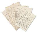 Wilhelm Leibl - 5 eigh. Briefe an Kayser. Dabei: 4 Briefe von Familie Leibl