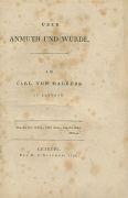 Carl von Dalberg - Anmuth und W�rde. Dabei: Aesthetik