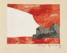 Serge Poliakoff - Composition rouge, blanche et noir