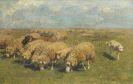 Heinrich von Z�gel - Schafherde mit H�tehund auf der Weide