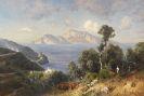 Ascan Lutteroth - Italienische K�stenlandschaft mit Blick auf Capri