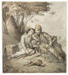 Johann Baptist W. A. Sonderland - Zugeschrieben - Die Savoyardenknaben trauern um ihr gestorbenes Murmeltier