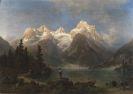 Heinrich Steinike - Gebirgslandschaft mit Gletscher und Bergsee