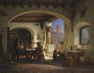 Wilhelm Gail - Picadores in einer spanischen Taverne am Fu�e der Alhambra