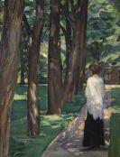 Albert Weisgerber - Dame im Park