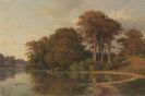 Louis Gurlitt - Sommerlandschaft mit Seeufer
