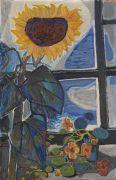 Richard Seewald - Sonnenblume am Atelierfenster