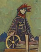 Karl Hofer - Figur mit Rad