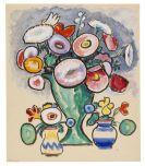 Gabriele M�nter - Blumenstillleben (Strau� mit zwei Str�u�chen)