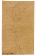 Gustav Klimt - Weiblicher Akt mit langen Haaren (Studie f�r