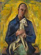 Karl Hofer - Mann (J�ngling) mit Hund