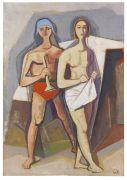 Karl Hofer - Paar (Detail eines Wandbildes)