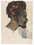 Emil Nolde - Kopf eines S�dseeinsulaners, im Profil nach rechts