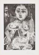 Pablo Picasso - Portrait de Jacqueline au Fauteuil