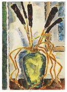 Karl Schmidt-Rottluff - Vase mit Rohrkolben