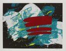 Kazuo Shiraga - Black Circle/Circle In The Orange/Red Flag
