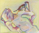 Maria Lassnig - Ich bin der Hlg. Franziskus der Waldtiere (Selbstportr�t mit Marder)