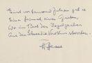 Hermann Hesse - 1 Autograph m. U.