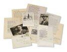 Hermann Hesse - Sammlung Roehr: ca. 142 Autographen u. Dokumente von u. zu H. Hesse