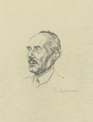 Max Liebermann - Porträt August Gaul (Lithografie)