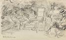 Max Liebermann - Im Garten (Sign. Orig.-Bleistiftzeichnung)