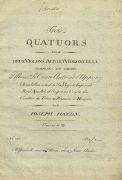 Musik - Haydn, Joseph, Trois Quatuors. 4 Hefte